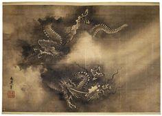 """""""Dragon dans les nuages"""" de Tani Bunchô. Royaume-Uni, Londres, British Museum - Diffusion en Europe sauf Royaume-Uni et Irlande. Photo (C) The British Museum, Londres, Dist. RMN-Grand Palais / The Trustees of the British Museum"""
