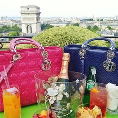 Pink or Blue? Cannage or Exotic? Credit: theblondmacaron #Diorvalley #LadyDior #Dior #Champagne #Paris