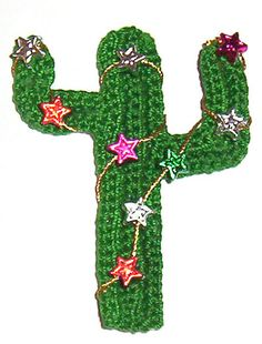 Christmas Cactus by Cecinatrix free crochet pattern on Ravelry at http://www.ravelry.com/patterns/library/christmas-cactus