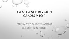 PPT presentation to help in working out how to ask questions in French, using 'tu' and 'vous' Will be useful when preparing for GCSE exams and for French GCS. French Revision, Gcse French, Gcse Exams, French Online, Ppt Presentation, Questions To Ask, Step Guide, School