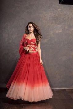 By designer Shyamal and Bhumika. Bridelan- Personal shopper & style consultants for Indian/NRI weddings, website www.bridelan.com #Bridelan #weddinglehenga #ShyamalandBhumika #ShyamalandBhumikaLehenga