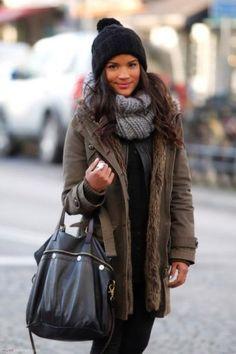 Bundled up winter look! #winteroutfit #modeloffduty #outerwear #streetstyle