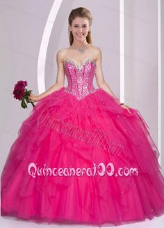 Romantic Tulle Sequins Ball Gown Sweetheart Quinceanera Dress