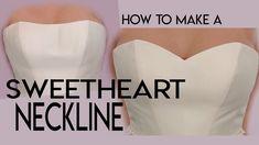 to sew a sweetheart neckline, make, add a sweetheart neckline to a w.How to sew a sweetheart neckline, make, add a sweetheart neckline to a w. Diy Wedding Dress, Making A Wedding Dress, Wedding Dress Patterns, Diy Dress, Sew A Dress, Diy Gown, Diy Corset, Bodice Pattern, Bra Pattern
