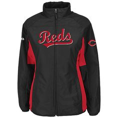 Cincinnati Reds Authentic Collection Women's Double Climate On-Field Jacket by Majestic Athletic - MLB.com Shop