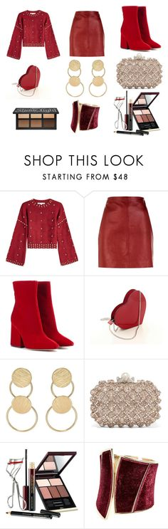 """""""Untitled #245"""" by daniela-castillo-05 ❤ liked on Polyvore featuring Jonathan Simkhai, Sandro, Maison Margiela, Kenneth Jay Lane, Jimmy Choo, Kevyn Aucoin and GUESS by Marciano"""