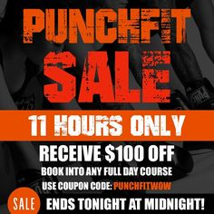 Receive $100 off when you book into any full day Punchfit boxing course.  COUPON CODE - PUNCHFITWOW  SALE ENDS TONIGHT AT MIDNIGHT  Book now!  www.punchfit.com.au  #sale #boxing #love #fitness #training #muaythai #kickboxing #gym #workout #motivation #fight #fit #crossfit #exercise #sports #health #instafitness #ausinstfitness #gloves #goldcoast #brisbane #sydney #melbourne #perth #adelaide #australia #punchfit #punch #like #boxingcourses