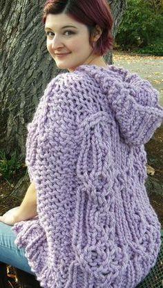 Fairhaven Poncho Shawl - knitting loom - free pattern
