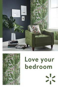 Transform your bedroom into the ultimate place to relax and rejuvenate. From the perfect wallpaper to a comfy armchair, find eve . Decor, Room, Interior, Home Decor, Living Room Interior, House Interior, Bedroom Decor, Trending Decor, Interior Design