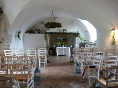 The Monks Kitchen at L'Abbaye Chateau de Camon. Ceremony by Weddings Words & Wishes. Wedding Celebrant in France.