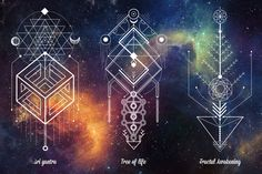 Sacred geometry involves sacred universal patterns used in the design of everything in our reality, most often seen in sacred architecture and sacred art. The basic belief is that geometry and mathematical ratios, harmonics and proportion are also found i…