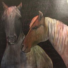 A personal favorite from my Etsy shop https://www.etsy.com/listing/260647670/horse-couple-deer-artwoodland-creatures