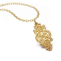 www.ORRO.co.uk - Brigitte Adolph - Gold & Diamonds Pendant Necklace - ORRO Contemporary Jewellery Glasgow