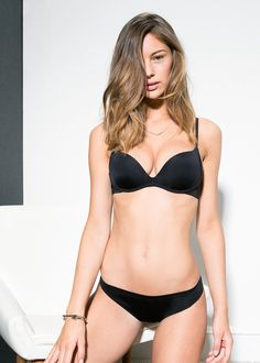 Non wired push-up bra