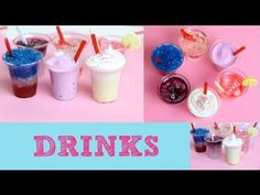Thirsty? - How To Make Mini Drinks & Ice Cream With Resin & Silicone - Tutorial - YouTube