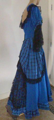 Women-Colonial-Costume-M-Southern-Belle-Halloween-Cosplay-LARP-Civil-War-PC3