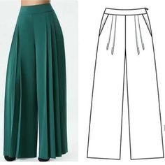 Fashion Pants, Women's Fashion Dresses, Clothing Patterns, Dress Patterns, Sewing Clothes Women, Pakistani Fashion Casual, Islamic Fashion, Designs For Dresses, How To Make Clothes