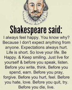 The wisdom of Shakespeare - wisdom quotes Wise Quotes, Words Quotes, Great Quotes, Motivational Quotes, Funny Quotes, Wisdom Sayings, Awesome Quotes, Deep Life Quotes, Inspirational Quotes Pictures