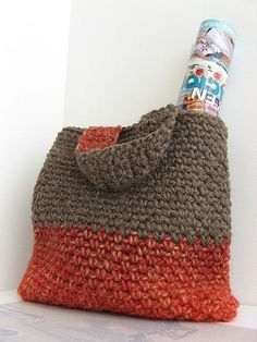 Crocheted bag.