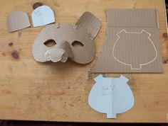 Simple Bear Mask 2.0 design by Douglas R Witt, via Flickr Cardboard Mask, Cardboard Box Crafts, Paper Crafts, Diy For Kids, Crafts For Kids, Diy And Crafts, Arts And Crafts, Bear Mask, Egg Carton Crafts