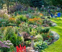 Nonstop Flower Garden with free planting guide. A beautiful garden that's filled with blooms in late summer and autumn.