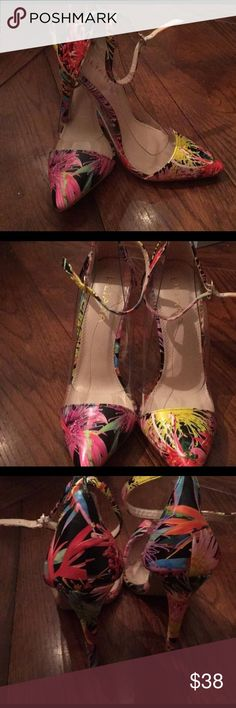 Just In Floral Stilettos Floral Multi-colored stiletto pumps. New with box! Purchase by 4:00pm Central Time same day shipping! Liliana Shoes Heels