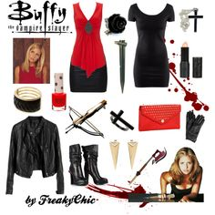 """Buffy the Vampire Slayer"" a fun choice to wear to a vampire party.  Halloween costume"