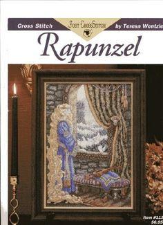 Beautiful Fantasy Fairy Tale Cross Stitch Pattern, Rapunzel. $5.00, via Etsy.