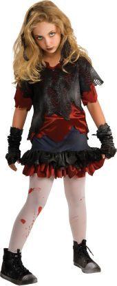 Girls Zombie-ista Zombie Costume - Party City