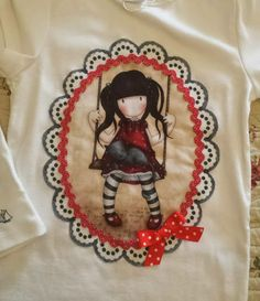 Camiseta Gorjuss Sewing For Kids, Refashion, Love Art, Kids And Parenting, Arts And Crafts, Diy, Quilts, Embroidery, Stitch