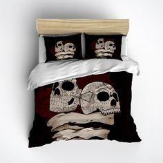 Man and Wife Sugar Skull Duvet Bedding Sets