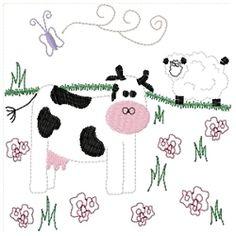 Down On The Farm Block Set - 5x7 | Primitive | Machine Embroidery Designs | SWAKembroidery.com Homeberries Designs
