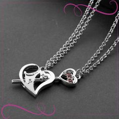 I Love You Couple Romantic Necklace for this Valentine day design jewelry Matching Necklaces, Dog Tag Necklace, Valentines Day, Best Gifts, Jewelry Design, Bling, Romantic, Couple, Silver