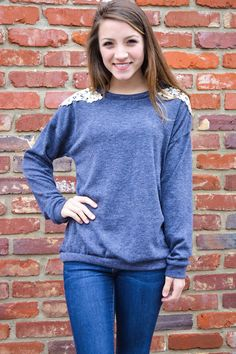 Unscripted Day Top Navy