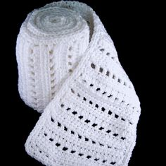 Free Crochet Pattern: White Angel Scarf from Purple Kiss Company ♥