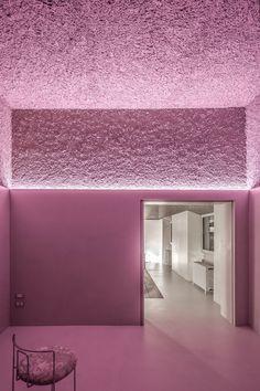The House of Dust (Rome is a work of architecture designed by architect Antonino Cardillo: the last room. Photography by Antonino Cardillo. Architecture Restaurant, Interior Architecture, Creative Architecture, Design Exterior, Interior Design, Interior Shop, Casa Wabi, Be Design, Design Color