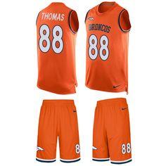 ad75219df Jordan Howard jersey Nike Broncos  88 Demaryius Thomas Orange Team Color  Men s Stitched NFL Limited