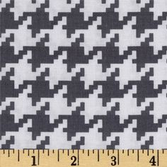 Michael Miller Everyday Houndstooth Grey from @fabricdotcom  Designed by Michael Miller, this cotton print fabric is perfect for quilting, apparel and home decor accents. Colors include grey and white.
