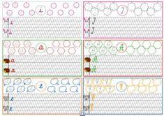 Litere mici și mari de mână Preschool Activities, Homeschooling, Worksheets, Calendar, Notebook, Bullet Journal, Clip Art, Classroom, 8 Martie