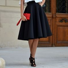 D, Stretch denim and High waisted pencil skirt on Pinterest