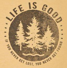 Life is Good Echo Trees Tee