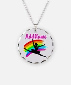 DANCING STAR Necklace Take 20% Off Your Order Use Code: BAE20 on our beautiful personalized Dancer and Ballerina Jewelry http://www.cafepress.com/sportsstar/10423569 #Dancer #Dancergifts #Ballet #Ballerina  #Personalizeddancer #DancerJewelry