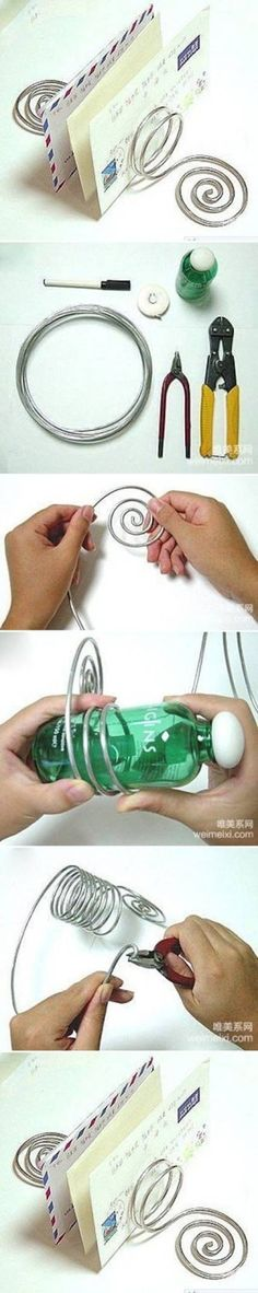 DIY Wire Letter Stand by stacy241