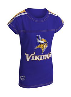 388a31ba7 Girls Fashion Jersey Crew Vikings T-Shirt