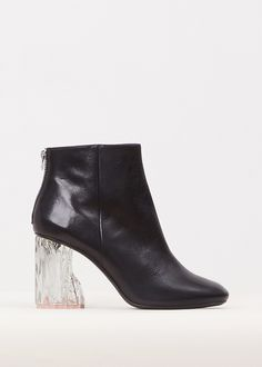 Acne Studios Black Ora Glass Ankle Boot