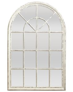 This extra large arched wooden loft style window mirror has a beautifully soft distressed paint finish. Arched Window Mirror, Hallway Mirror, Arch Mirror, Arched Windows, Quirky Wall Mirrors, Home Decor Mirrors, Decorative Mirrors, Home Window Replacement, Vinyl Cladding