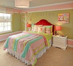 Paint For Girls Room aqua and pink - one of my fave combos for a little girl's room