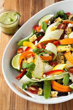Summer Produce Salad with Cilantro Lime Dressing - Simple and Healthy by WillCookForFriends, via Flickr