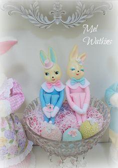 Vintage Bunny couple... bunny love <3 <3