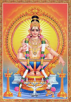 Lord Ayyappan - Hindu Posters (Reprint on Paper with Plastic Lamination - Unframed) Lion King Pictures, God Pictures, Yashoda Krishna, Lord Murugan Wallpapers, Saraswati Goddess, Lord Ganesha Paintings, Shiva Wallpaper, Hd Wallpaper, Lord Balaji